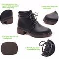Giày boot nữ cổ điển gót vuông cá tính  BT235D - Doni86