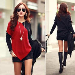 Áo thun nữ dài tay, thiết kế độc đáo, thời trang hiện đại-A2965
