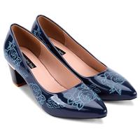 Giày cao gót bít mũi hoa hồng - S5H012XAD