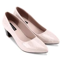 Giày cao gót bít mũi hoa hồng - S5H012K