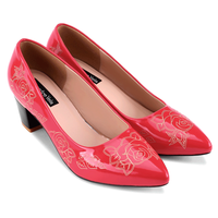 Giày cao gót bít mũi hoa hồng -  S5H012DO