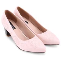 Giày cao gót bít mũi hoa hồng - S5H012HM
