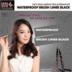 Bút dạ kẻ mắt nước Hàn Quốc Kara Dium - Waterproof Brush Liner Black