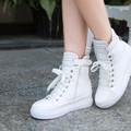 Giày cao cổ nữ phong cách Hàn Quốc