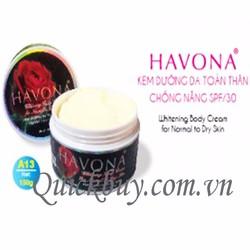 Kem dưỡng trắng da toàn thân 150g SPF30 Havona - A13