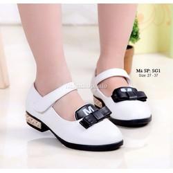 Giày búp bê điệu đà cho bé gái 3 - 12 tuổi SG1 màu trắng