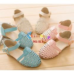 Sandal đục lỗ cho bé gái 1-10 tuổi kiểu dáng Hàn Quốc SL1
