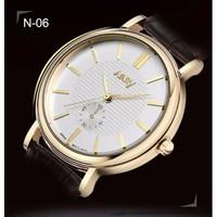 Đồng hồ dây da khung xi vàng sang chảnh Nary N-06