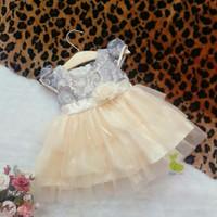 Đầm công chúa xám ren 3 tầng