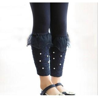 Quần legging lót nỉ bé gái mặc mùa đông hàng nhập V258 - V258 thumbnail