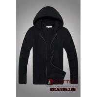 Áo len kéo khóa kèm mũ thời trang TUTTAT 96015-0 Màu Đen