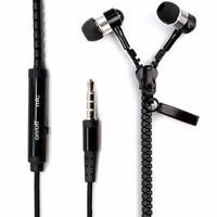 Tai nghe dây kéo Zipper Headset Fashion Đen– TTShop