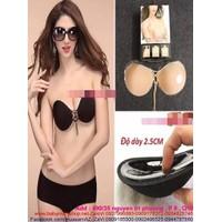 Áo dán ngực cúp tròn thiết kế dây rút nâng ngực DLMD18