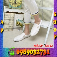 giày lười nam lịch lãm trắng - GN12