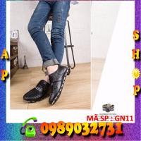 Giày da nam form Ý đen cực chất 2016 - GN11