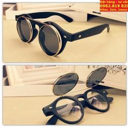 Kính Eyewear Vintage tròng kính lật - bật nắp kiểu thầy bói độc đáo