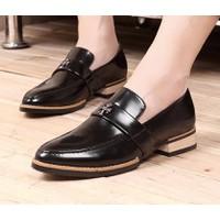 Giày loafer da nam chữ thập Mã: GH0267