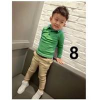 Bộ áo thun cotton, quần kaki Little Mon 2