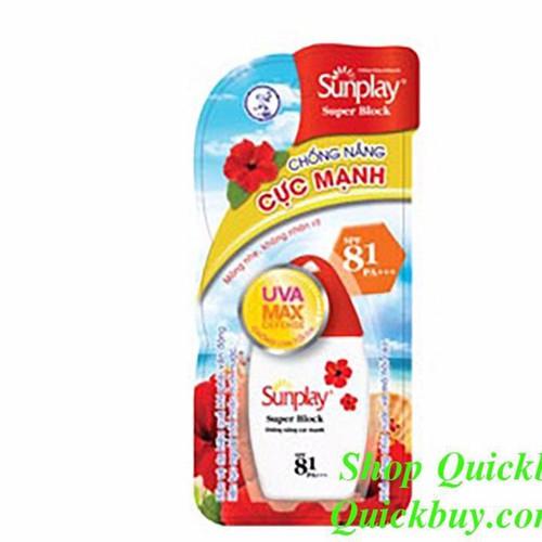 Sữa chống nắng cực mạnh toàn thân Sunplay Super Block SPF81 30g - 3887989 , 2706863 , 15_2706863 , 64000 , Sua-chong-nang-cuc-manh-toan-than-Sunplay-Super-Block-SPF81-30g-15_2706863 , sendo.vn , Sữa chống nắng cực mạnh toàn thân Sunplay Super Block SPF81 30g