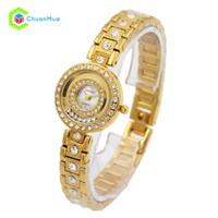 Đồng hồ Nữ Cartier đá xoay si xịn DHA261-D0907 - Vàng