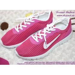 Sale Off Giày thể thao nữ màu hồng trẻ trung GTU107