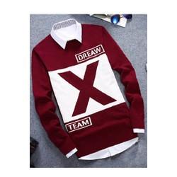 Áo thun tay dài chữ X