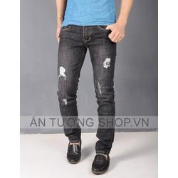 Quần Jeans nam rách bụi cá tính