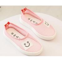 Giày trẻ em bé gái búp bê lưới mặt cười