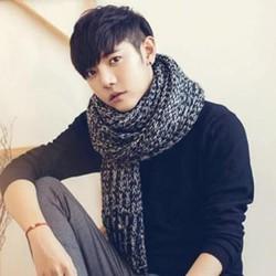 khăn choàng len nam, khăn quàng cổ nam couple Hàn mùa đông sẽ qua