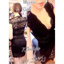 Đầm Body Ren Kim Móm EKE-D895
