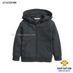 Áo khoác nỉ màu trơn màu đen size 14-16T