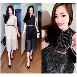 Đầm Maxi Chấm Bi Xinh Xắn EKE-D909