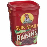 Nho khô không hạt hộp nhựa Sun-Maid CALIFORNIA RAISIN 500gr