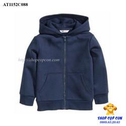 Áo khoác nỉ màu xanh đen size 8-10T