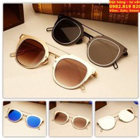 Kính mát NAM - NỮ Dior Homme Round Sunglasses gọng siêu nhẹ T180