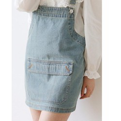 Váy yếm Jean cut out túi to