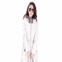 Áo khoác nữ dạng phao dài tay phối nón cho mùa đông ấm áp AKMT58