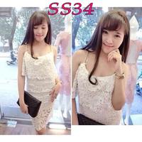 Đầm ren 2 dây - SS34