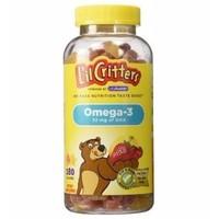Kẹo Gấu Lil Critters Omega-3 từ Mỹ 180 viên cung cấp DHA cho não ở trẻ