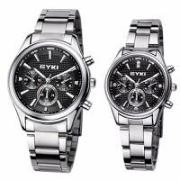 Đồng hồ đôi EYKI 8581 mặt đen