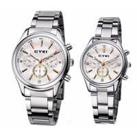 Đồng hồ đôi EYKI 8581 mặt trắng
