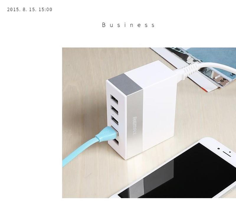 CÓC SẠC 5 CỔNG REMAX với thiết kế nhỏ gọn sạc cùng lúc 5 thiết bị 7