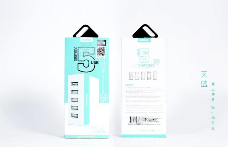 CÓC SẠC 5 CỔNG REMAX với thiết kế nhỏ gọn sạc cùng lúc 5 thiết bị 8