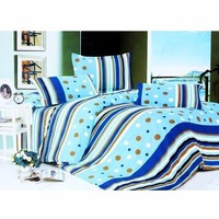 TTShop -  Bô ga giường cotton chấm bi TTShop 160x200x10cm Xanh