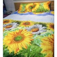 TTShop -  Bô ga giường Cotton Hoa Hướng Dương TTShop 160x200x10cm