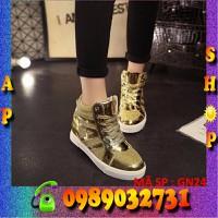Giày sneaker nữ vàng cao cấp 2016 - GN24