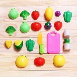 Bộ đồ chơi trái cây, rau củ 12 món cho bé