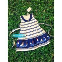 Đầm vải họa tiết thuyền
