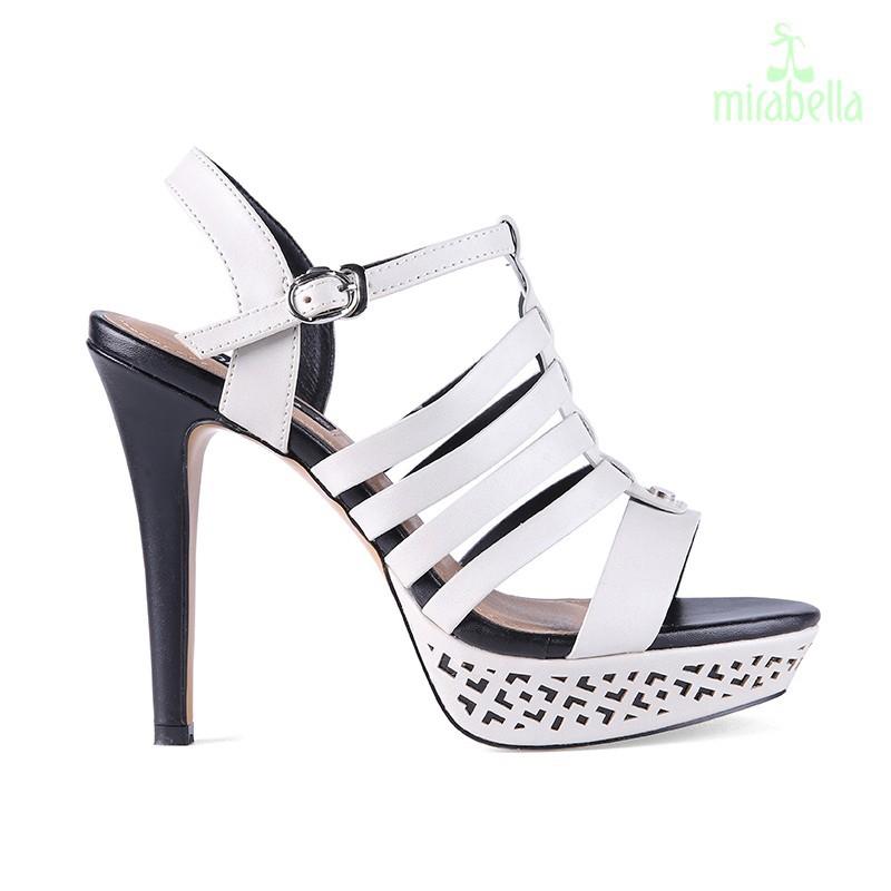 Giày xăng đan nữ cá tính 577 màu trắng kem 3