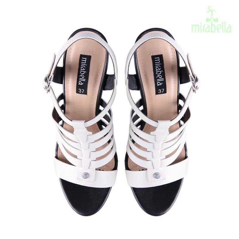 Giày xăng đan nữ cá tính 577 màu trắng kem 4
